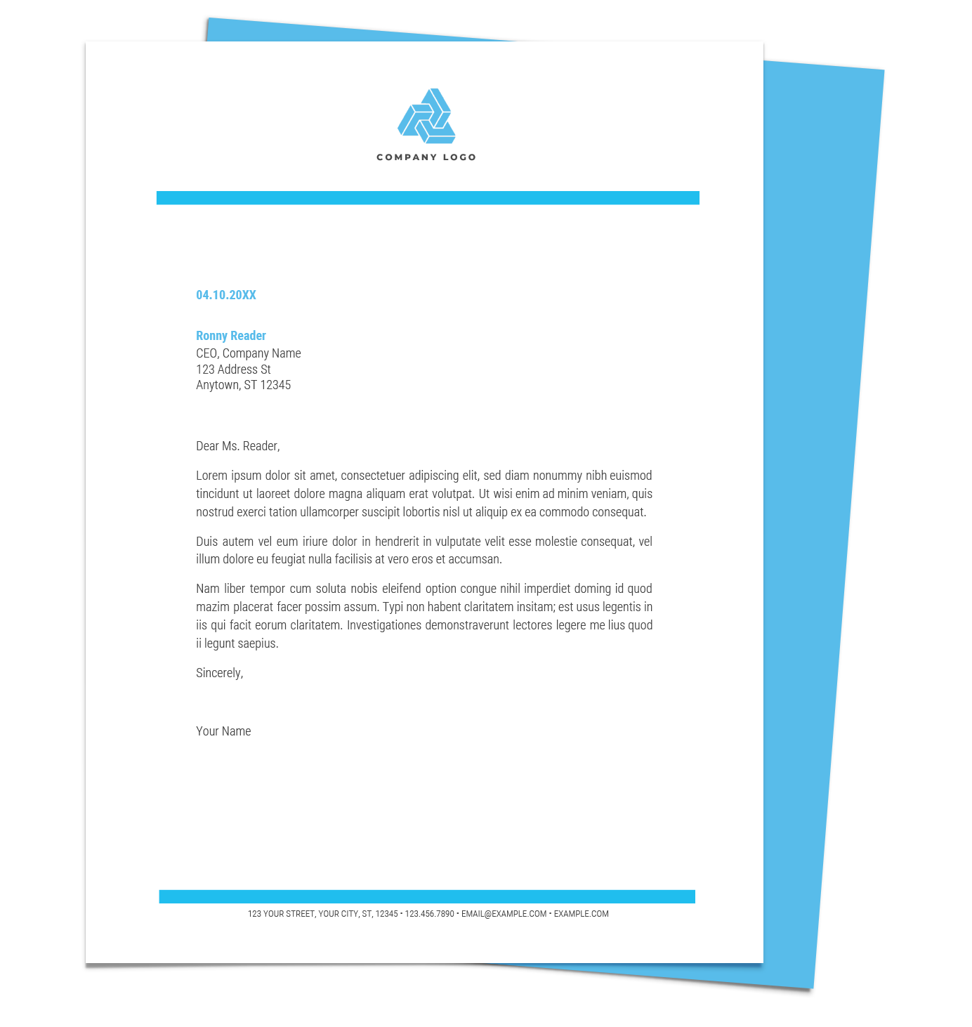 Free Custom Letterhead: Free Letterhead Templates For Google Docs And Word