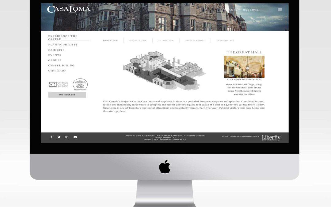 Toronto's Castle, Casa Loma Website Redesign