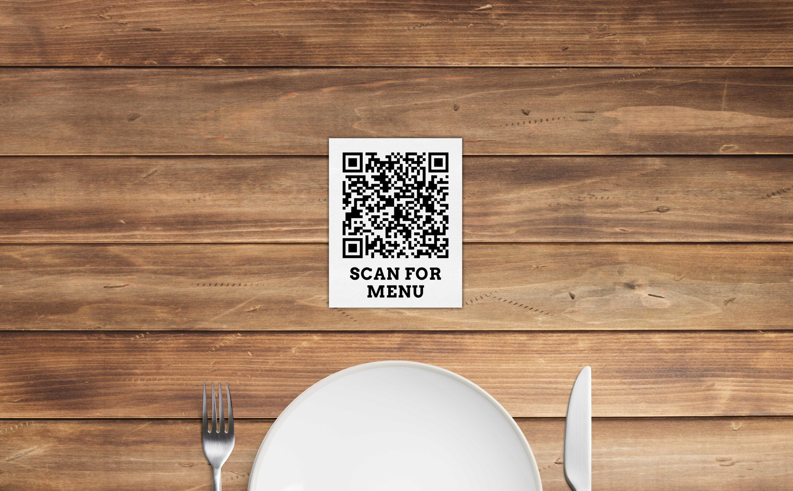Smart Menu in Front of Plate
