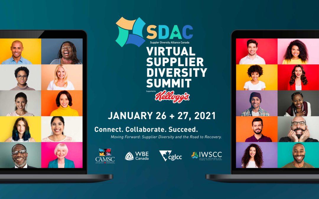 Supplier Diversity Alliance Canada (SDAC) VIRTUAL SUMMIT LOGO AND BRAND